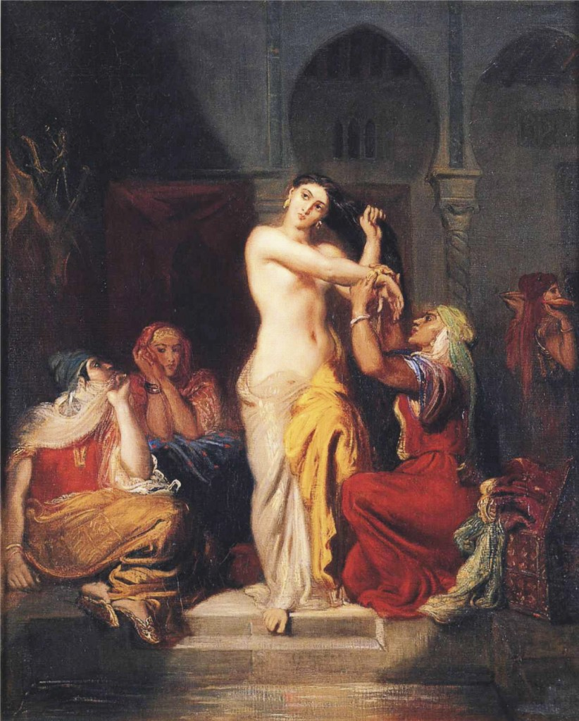 """Single Woman Bathed in Seraglio"" by Théodore Chassériau"