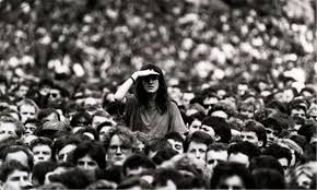 Woman in crowd. Photograph: Graham Turner/Guardian, 6 March 2009.