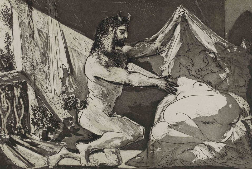 Pablo Picasso, Faun uncovering a sleeping woman. British Museum