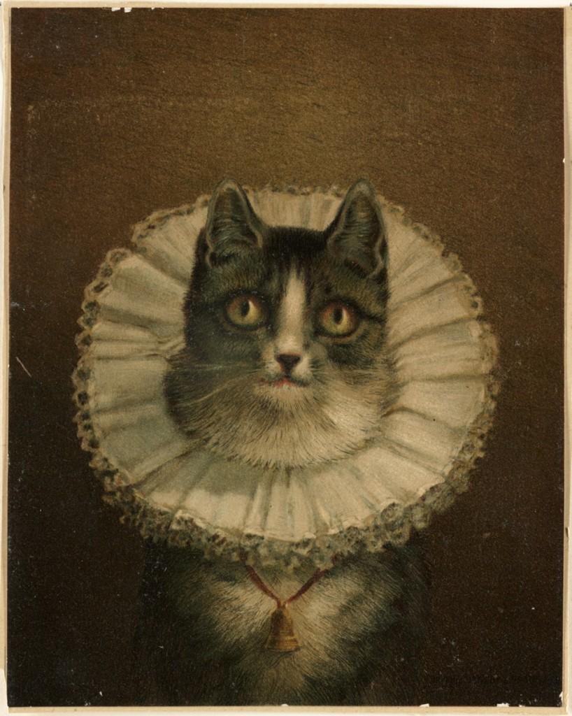 Elizabethan Cat: The Widow, Frederick Dielman, 1847-1935.