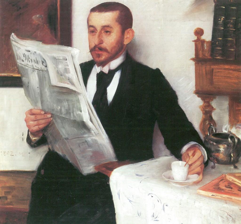 Lovis Corinth Portrait, oil on canvas, 1892, Wuppertal, Von der Heydt-Museum