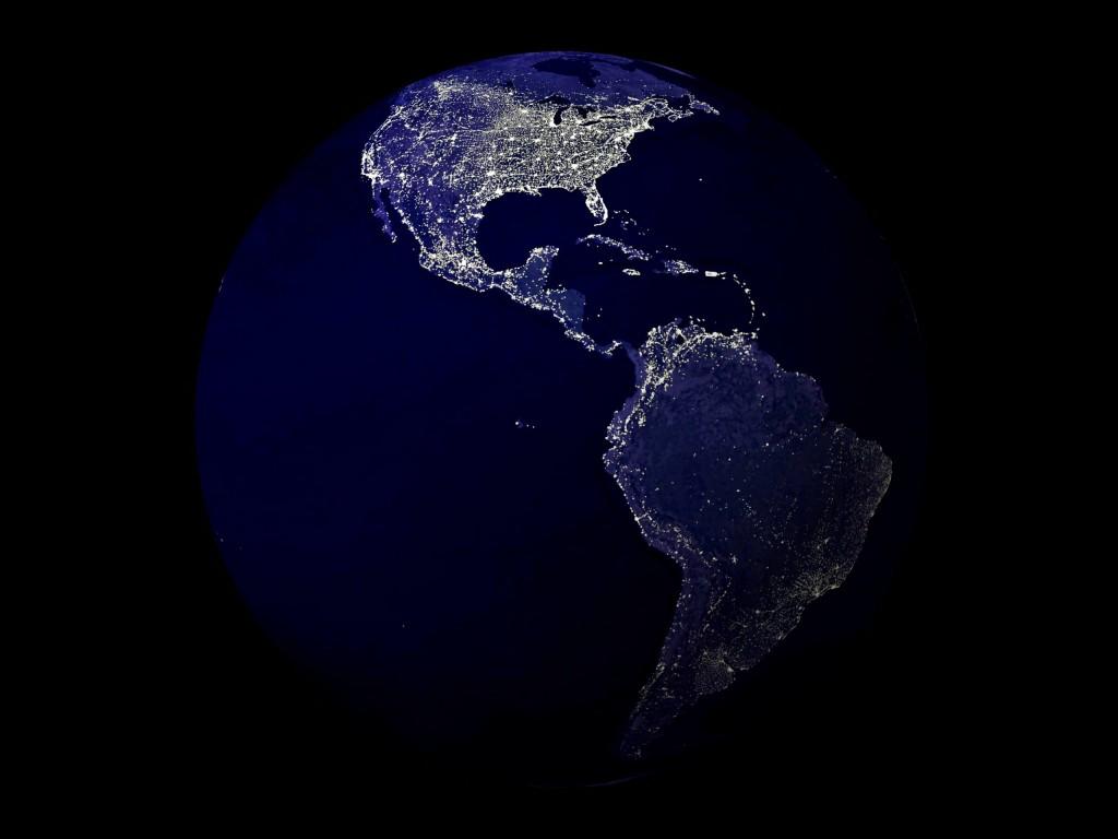 The Earth at Night, NASA.