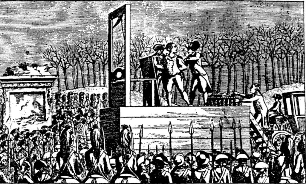 Louise XVI at the guillotine, Jan 21 1793, Place de la Concorde