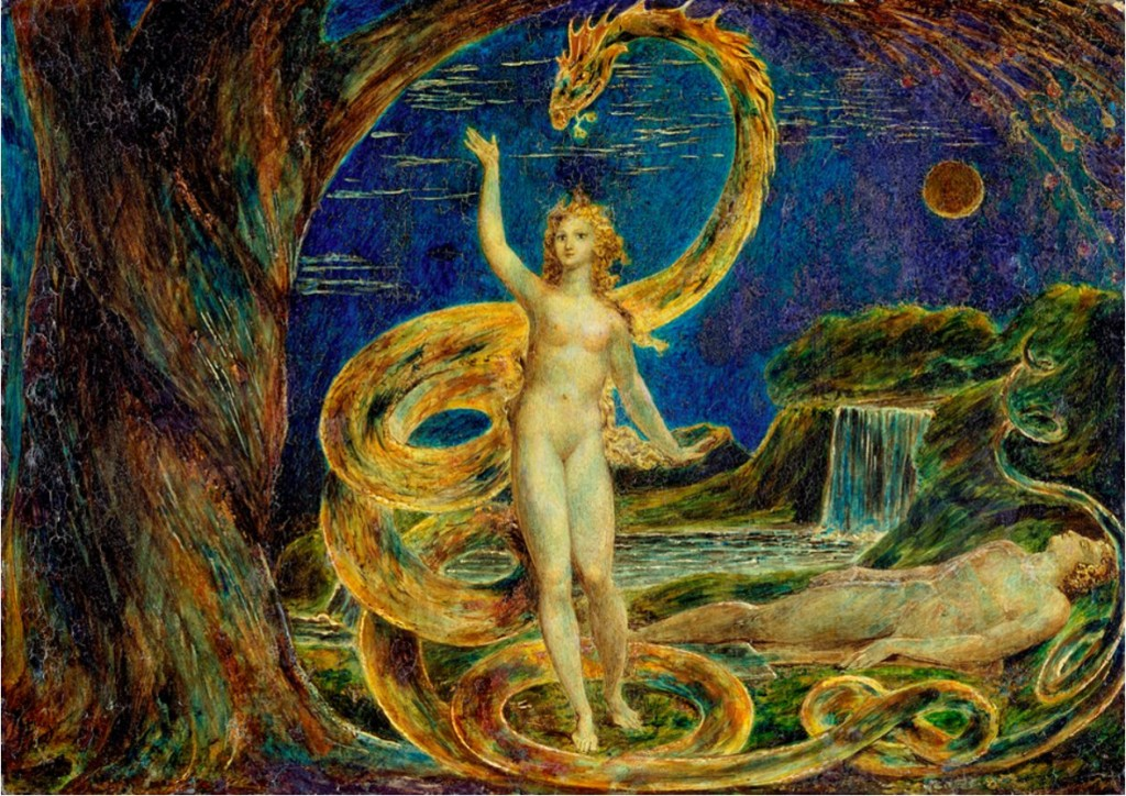 Eve Tempted by the Serpent William Blake (1757-1827), Victoria and Albert Museum.
