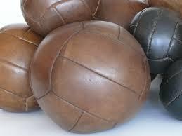 Vintage leather balls.