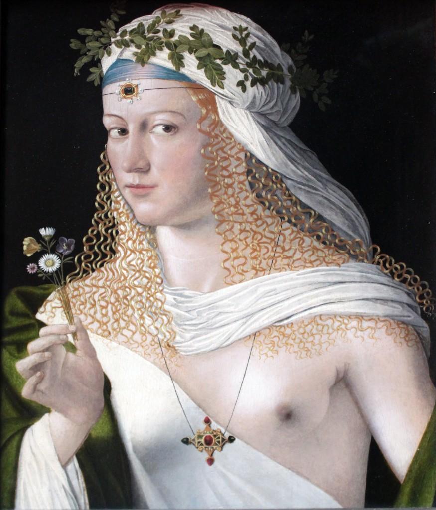 Courtesan, 1520, Bartolomeo Veneto (1470-1531).