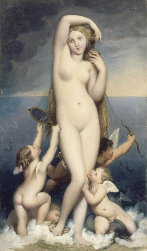 Venus Anadyomene, circa 1850, oil on canvas, Ingres, Louvre.