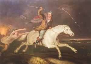 Tam O'Shanter escaping,1866, John Joseph Barker.