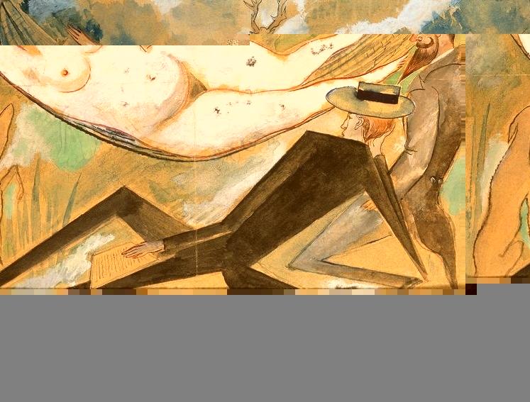 """""""In the Hammock"""", 1917, Zygmunt Waliszewski, Nat'l Museum Warsaw."""