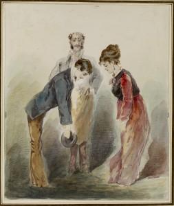 Man Bows to Woman, Alfred Grévin (1827-1892).