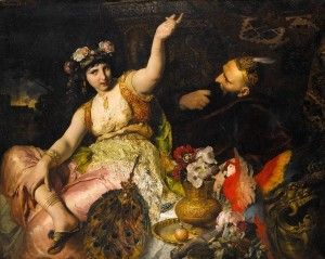 Scheherazade und Sultan Schariar, 1880, Ferdinand Keller.