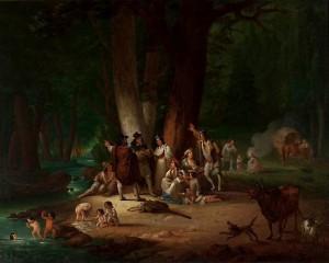 Gypsy Encampment,1850s, Wincenty Smokowski, Nat'l Museum Warsaw.