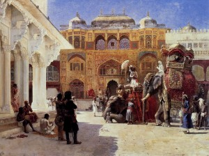 Arrival of Prince Humbert The Rajah at the Palace of Amber, Lord Edwin Weeks (1849-1903).