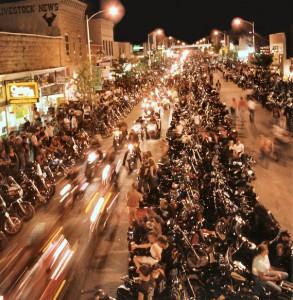 Bikers at night, 2008, Chris Heald.