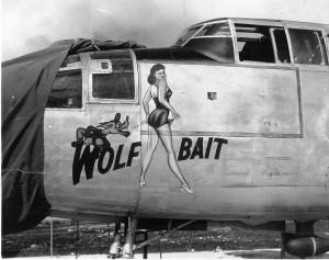 B-25_Wolf_Bait_Nose_Art
