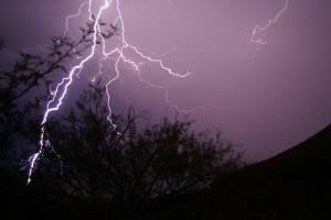 Desert lightning, Arizona, Shredex.