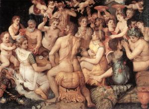 Banquet of the Gods, Frans Floris, oil on panel c. 1550, Royal Museum of Fine Arts Antwerp.