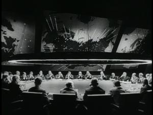 Dr. Strangelove war room, 1964, wikicommons.