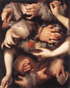 Study of Hands, circa 1715, Nicolas de Largilliere, Louvre.