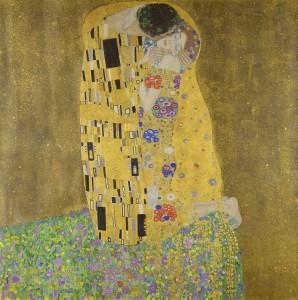 The Kiss, 1909, Gustav Klimt, Osterreichische Galerie Belvedere.