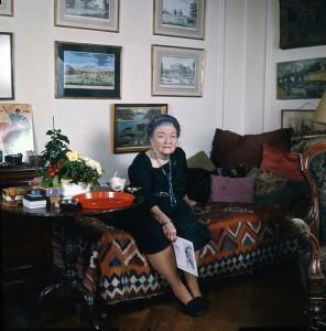 Baroness Budberg at 80 in her London apt,1972, Allan Warren.